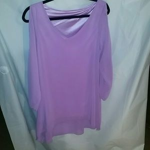 Medium pink blouse with side slits